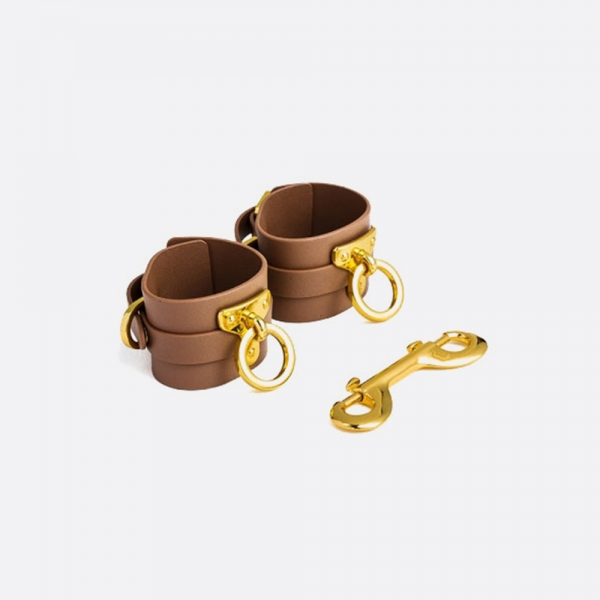 Leather Ankle Cuffs_BROWN